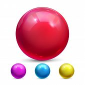 Sphere Ball Vector. Orb Shining. Magic Globe. Fluid Element. Jeweler Perl. Shine Glowing Metal Or Pl poster