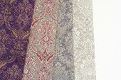 Colorful Curtain Fabric Samples. Multiple Color Fabric Texture Samples Selection Fabrics For Interio poster