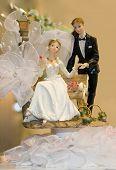 Bride and Groom Wedding Cake Ornament