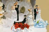 Bride and Groom Wedding Cake Ornaments of your choice