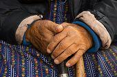 Hands Of Old Poor Woman