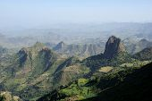 foto of ethiopia  - Landscape in the Simien massif in Ethiopia - JPG