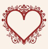 picture of heart shape  - heart in shape frame - JPG