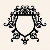 decorative curly escutcheon