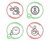 Do Or Stop. People, Headhunting And Time Management Icons Simple Set. Share Sign. Support Job, Perso poster