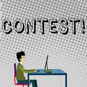 Handwriting Text Contest. Concept Meaning Game Tournament Competition Event Trial Conquest Battle St poster