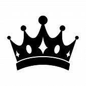 Crown Icon Vector In Modern Flat Style For Web, Graphic And Mobile Design. Crown Icon Vector Isolate poster