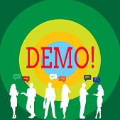 Conceptual Hand Writing Showing Demo. Business Photo Showcasing Trial Beta Version Free Test Sample  poster