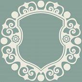decorative vector escutcheon design