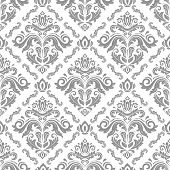 Classic Seamless Vector Pattern. Damask Orient Ornament. Classic Vintage Background. Orient Light Si poster