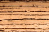 Background Texture Of Wooden Planked Wall. Large Wooden Plank poster