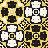 retro wallpaper, vector inverse ornament