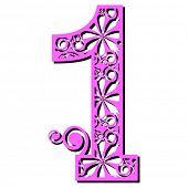 openwork numerals, number one