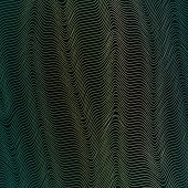 Abstract Background With Wavy Lines Of Waveform Dynamic Pattern Of Lines Stripes Specks Points Parti poster