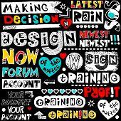 hand drawn lettering design elements