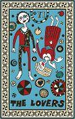 hand drawn tarot deck, major arcana, the raster version, the lovers