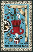 hand drawn tarot deck, major arcana, the raster version, the hanged man