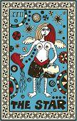hand drawn tarot deck, major arcana, the raster version, the star