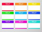 Nametag Stickers Set. Blind And Speed Dating Tag poster
