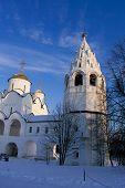 Pokrovsky Nunnery in Suzdal. Winter.