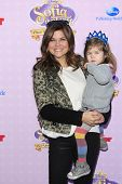 BURBANK - NOV 10: Tiffani Thiessen, daughter Harper at the premiere of Disney Channels' 'Sofia The First: Once Upon a Princess' at Walt Disney Studios on November 10, 2012 in Burbank, California