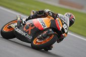 CHESTE - NOVEMBER 11: Marc Marquez during Moto2 race in GP of the Comunitat Valenciana, on November