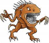 Demônio monstro besta Vector