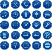 Web Icons Set Blue
