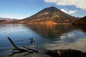 Mount Nantai on Lake Chuzenji in Nikko, Japan.
