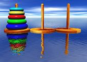 Tower Of Hanoi Toy Puzzle