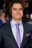 LOS ANGELES, CA - NOVEMBER 12: Actor Kiowa Gordon arrives at the premiere of The Twilight Saga: Brea