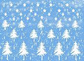 Snow Scene With Trees