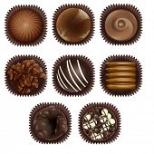 illustration of chocolate on a white background