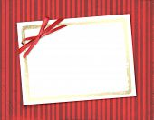 Frame For Invitations. Abstract Striped Background.
