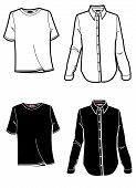 Fashion Plate Shirt And T Shirt