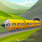 Kids Taking A Train Ride
