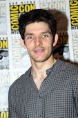 SAN DIEGO, CA - JULY 15: Colin Morgan arrives at the 2012 Comic Con convention press room at the Bay