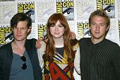 SAN DIEGO, CA - JULY 15: Matt Smith, Karen Gillan and Arthur Darvill arrive at the 2012 Comic Con co