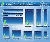 Постер, плакат: Баннер Рождество снег стандартные размеры