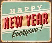Vintage Metal signo - feliz año nuevo todos! -Versión JPG