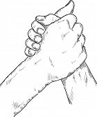 vector - Arm wrestling isolated on background