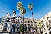 Palm Trees At Placa Reial, Barcelona