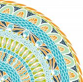 Постер, плакат: Красочные Этничность круглый орнамент мозаика Векторный фон