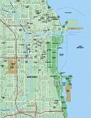 Downtown Chicago, Illinois Map