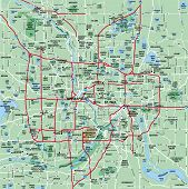 Minneapolis - St Paul Metropolitan Area Map