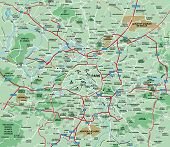 Paris, France  Metropolitan Area Map