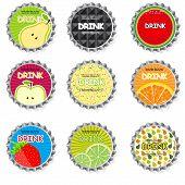 Set of bottle caps.vector illustration