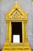 The Single Window Color Gold At Wat Trimit, Bangkok, Thailand.