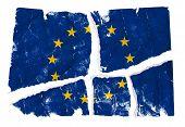 Grungy Flag - European Union