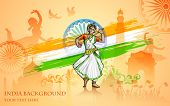 picture of bharatanatyam  - illustration of colorful culture of India - JPG